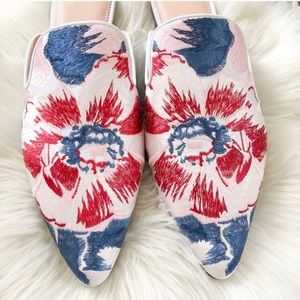 J. Crew Shoes - NIB J Crew Embroidered Ingalls Floral Marina Mule